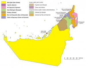 UAE en map